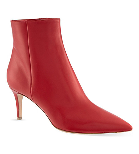 GIANVITO ROSSI Young leather ankle boots (Red