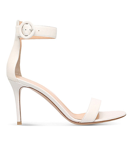 GIANVITO ROSSI Louis leather sandals (Winter wht