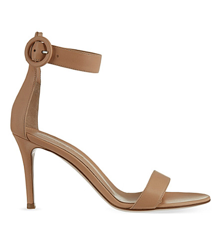 GIANVITO ROSSI Louis leather heeled sandals (Tan