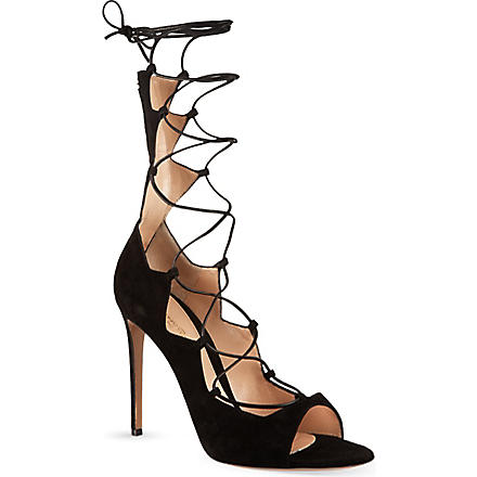 GIANVITO ROSSI Amber lace-up sandals (Black