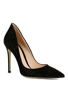 GIANVITO ROSSI Rose suede pointed-toe court shoes