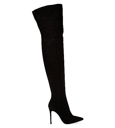 GIANVITO ROSSI OTK suede knee high boots (Black