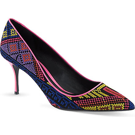 NICHOLAS KIRKWOOD Mexican embroidered courts (Navy