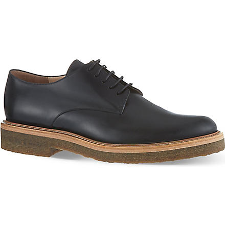 DRIES VAN NOTEN Grapefruit brogues (Black