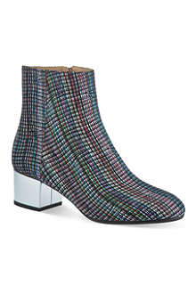 DRIES VAN NOTEN Strawberry heeled ankle boots