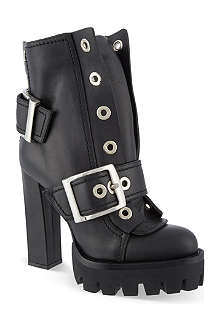 ALEXANDER MCQUEEN 39S leather boots