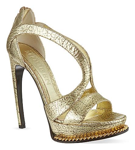 ALEXANDER MCQUEEN Armadillo sandals (Gold