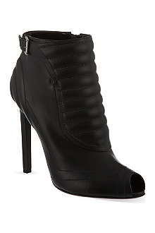 ALEXANDER MCQUEEN Padded stripes leather ankle boots