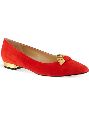 CHARLOTTE OLYMPIA Fantastical suede flats