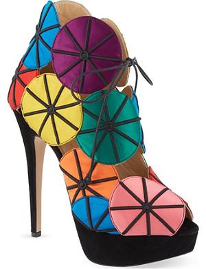CHARLOTTE OLYMPIA Parasol open toe heels