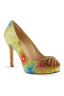 CHARLOTTE OLYMPIA Firework satin court shoes
