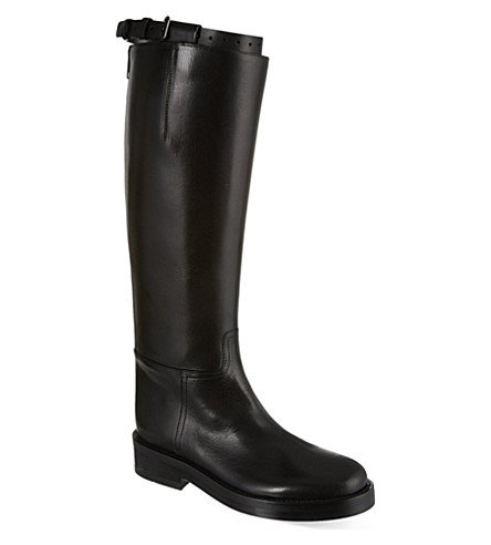 ANN DEMEULEMEESTER Hong Kong high leather boots (Black