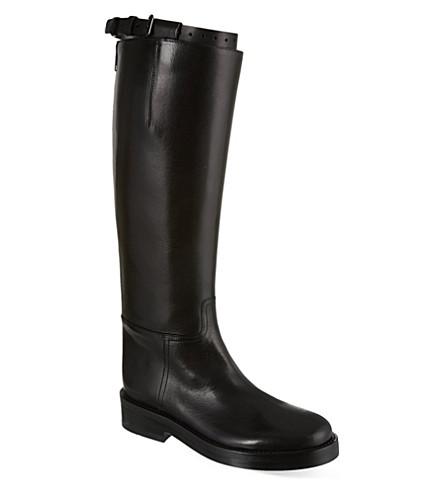 ANN DEMEULEMEESTER Hong Kong high leather boots (Black