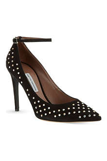 TABITHA SIMMONS Sable crystal studded stilettos