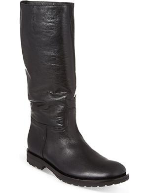 ANN DEMEULEMEESTER Calf-high leather boots