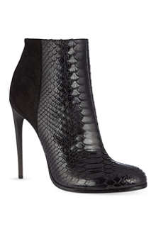 HAIDER ACKERMANN Lamington snakeskin stiletto ankle boots
