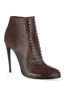 HAIDER ACKERMANN Lamington snakeskin stiletto ankle boots