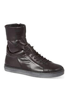 A.F.VANDEVORST Leather hi-top trainers