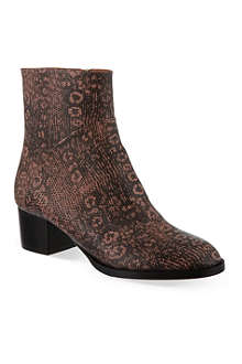 DRIES VAN NOTEN Bactrian leather ankle boots