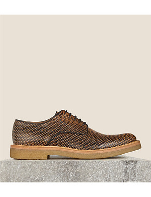 DRIES VAN NOTEN Lace up crepe Oxford shoes