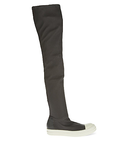 RICK OWENS High leg sneakers (Grey