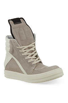 RICK OWENS Geobasket zip-up hi-top sneakers