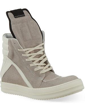 RICK OWENS Geobasket zip-up hi-top sneakers