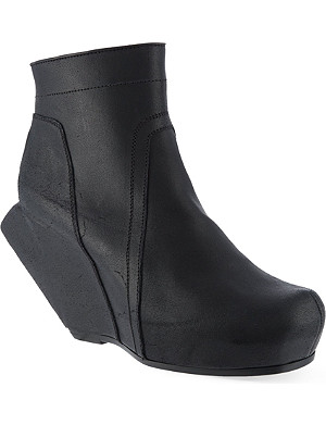 RICK OWENS Megaturbo wedge ankle boots