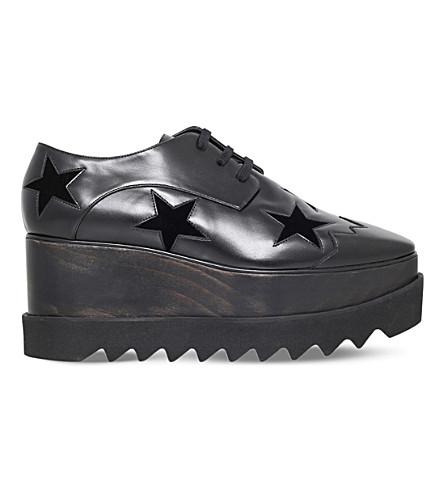 STELLA MCCARTNEY Elyse Stars faux-leather flatform brogues (Black