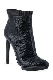 ALEXANDER MCQUEEN Pleated trim heeled ankle boots
