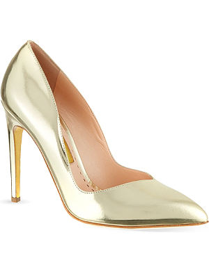RUPERT SANDERSON Ives metallic gold courts