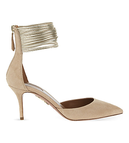 AQUAZZURA Hello Lover 75 courts (Nude