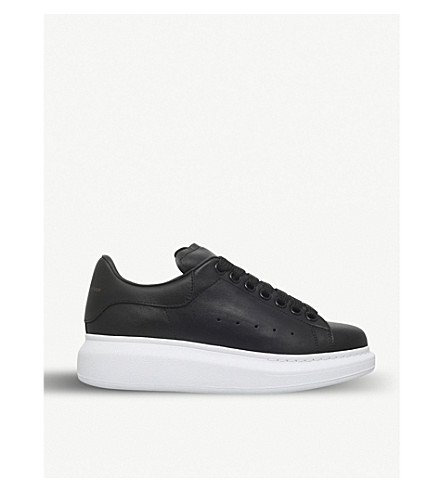 ALEXANDER MCQUEEN Runway leather platform trainers (Black