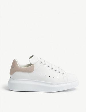 ALEXANDER MCQUEEN Ladies runway leather platform sneakers