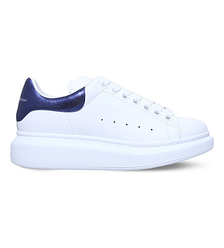 ALEXANDER MCQUEEN Runway leather trainers (White/comb