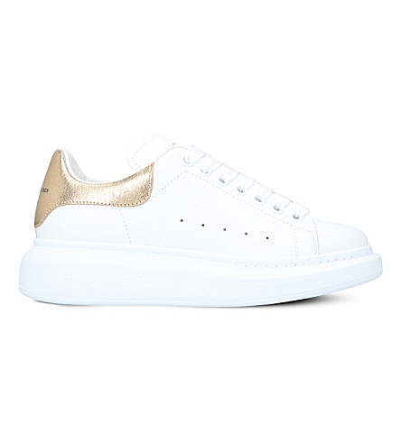 ALEXANDER MCQUEEN Ladies runway leather trainers (White/oth