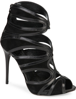 ALEXANDER MCQUEEN Coburg leather sandals