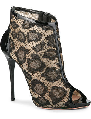 ALEXANDER MCQUEEN Freital peep-toe lace ankle boots