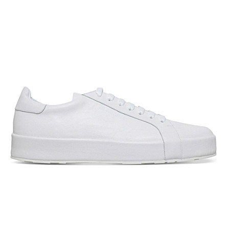 JIL SANDER Manhattan leather trainers (White