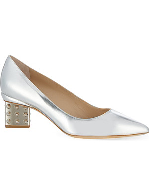 NICHOLAS KIRKWOOD Fabian metallic leather pumps