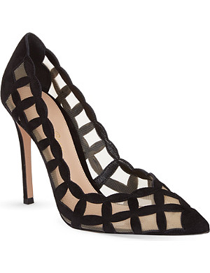 GIANVITO ROSSI Sardinia suede court shoes