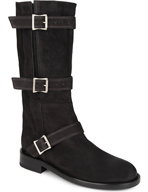 ANN DEMEULEMEESTER Leather biker boots