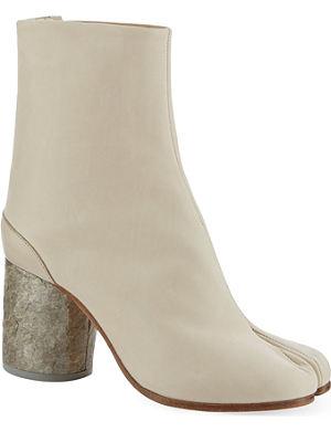 MARTIN MARGIELA Tabi stone heel ankle boots