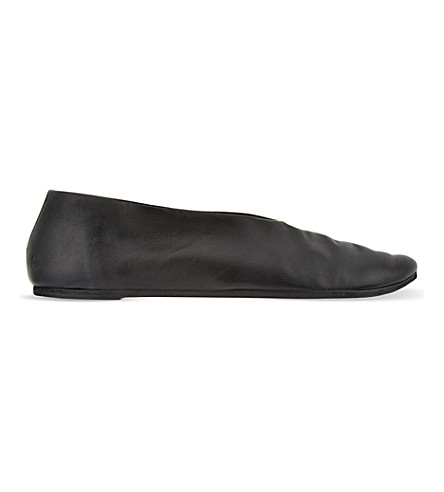 MARSELL Dorothy leather flats (Black