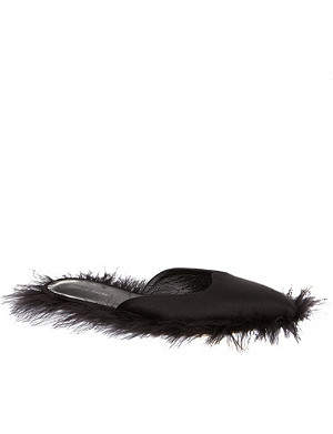 SIMONE ROCHA Fluffy leather slippers