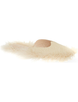SIMONE ROCHA Fluff leather slippers