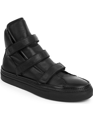 ANN DEMEULEMEESTER Chill high-top leather trainers