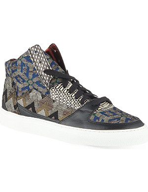 DRIES VAN NOTEN Sloth bear high-top trainers