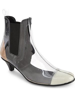 COMME DES GARCONS Patent chelsea boots