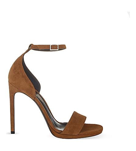 SAINT LAURENT Jane 110 heeled sandals (Tan